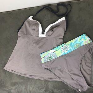 Freya Tankini swimsuit 38DD Top size S bottoms